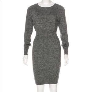 NEW WITH TAGS Chanel Grey Wool Knit Dress